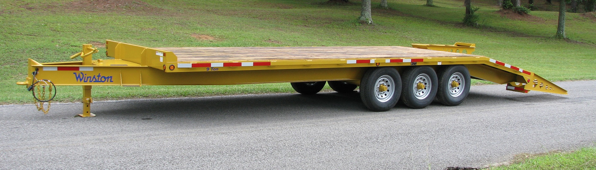 9 and 10 Ton Custom Series Tri-Axle Equipment Trailers